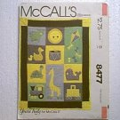 Crib Quilt Pillows Baby Infant Bed Set McCalls Pattern 8477 Uncut
