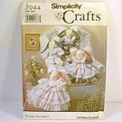 Stuffed Decorative Angel Bunnies & Clothes Simplicity Pattern 7044 Uncut