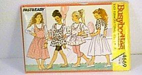 Busie Bodies Girls Tops Jumper Leggings Sz 7 8 10 Butterick Pattern 4669 1990 Uncut