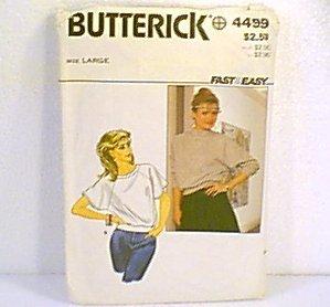 Misses Tops Butterick Sewing Pattern 4499 Sz lg 16 - 18 Cut
