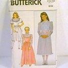 Girls Fancy Party Dress Dresses Butterick Sewing Pattern 3488 1985 Sz 12 14 Cut