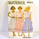 Misses Skirt Butterick Sewing Pattern 4843 Sz 8 10 12 1987 Uncut