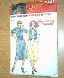 Misses Dress Reversible Vest Time Saving Shortcuts Butterick Sewing Pattern 6421 Sz C 12 14 16 Uncut