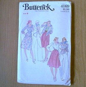 Misses Shirt Top Blouse Skirt Pants Butterick Sewing Pattern 4169 Sz 8 Uncut