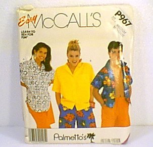 Palmetto's Easy Tops McCalls Sewing Pattern P967 Sz Med 36 - 38 Uncut
