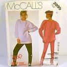 The Gap Top & Pants Stretch Knit McCalls Sewing Pattern 2099 Sz 16 1985 Uncut