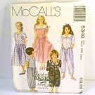 Girls Dress Jumpsuit 2 Lengths McCalls Sewing Pattern 5340 Sz 7 8 10 Uncut