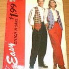 Lined Vest & Pants Stitch n Save McCalls Sewing Pattern 6079 Men Boy Woman XS S Med Uncut