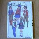 Childs Vest Skirt Pants Knickers Apliques McCalls Sewing Pattern 7756 Sz 6 Uncut