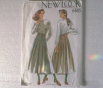 6 in 1 Skirts New Look Sewing Pattern 6445 Sz 8 thru 18 Uncut