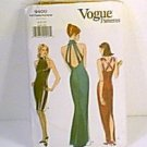 Misses Evening Gowns Dress Strap Back Vogue Sewing Pattern 9400 Sz 6 8 10 Cut