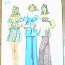 Dress Smock Top Pants Jr Petite Simplicity Sewing Pattern 5691 Sz 13 JP Cut