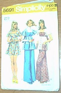 Dress Smock Top Pants Jr Petite Simplicity Sewing Pattern 5691 Sz 13 JP Cut