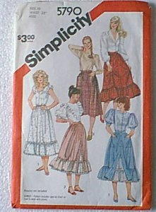 Misses Skirts 3 Styles Versions  Simplicity Sewing Pattern 5790 Sz 10 Miss Cut