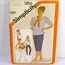 Pullover Tops Nautical Pants 3 Lengths Simplicity Sewing Pattern 5856 Sz 11/12 Jr T Uncut