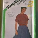 Mini Skirt Stretch Knit Beginners Choice Lvl 2 Simplicity Sewing Pattern 6102 Sz 10 12