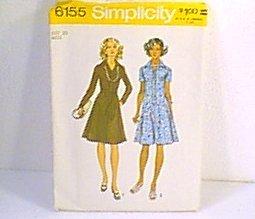 Miss & Womans Dress Simplicity Sewing Pattern 6155 Sz 20 Miss Uncut