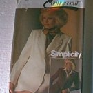 Connoisseur Misses Single & Double Breasted Jacket Simplicity Sewing Pattern 6584 Sz 12 Miss Uncut
