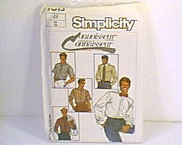 Connoisseur Mens Shirts Torn Envelope Simplicity Sewing Pattern 7015 Sz 44 Mens Uncut
