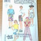 Surf Club Boys Girls Easy to Sew Surfers 3 Lengths Simplicity Sewing Pattern 7531 Sz Med Cut