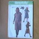 Misses Jiffy Pant Dress Simplicity Sewing Pattern 7663 Sz 8 Uncut