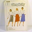 Misses Proportioned Slim Skirts Simplicity Sewing Pattern 7668 Sz 14 Uncut