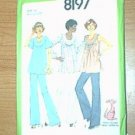 Maternity Top Pants Misses Baby Toy Kangaroo Simplicity Sewing Pattern 8197 Sz 14 MaternityUncut