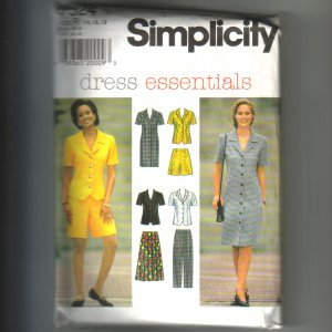 Misses & Miss Dress Top Skirt Pants Shorts Simplicity Sewing Pattern 7524 Sz 14 16 18 Uncut