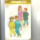 Childs Robe & PJs Pajamas Simplicity Pattern 5103 Sz 4 Cut
