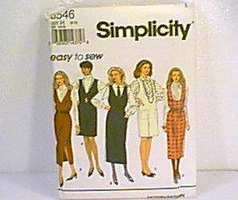 Misses Jumper Dress 2 Lengths Simplicity Sewing Pattern 8546 Sz 6 - 10 Uncut
