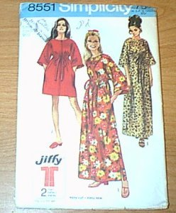 Misses Jiffy Robe 2 Lengths Simplicity Sewing Pattern 8551 Sz 8 - 10 Uncut