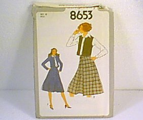 Misses Skirt Unlined Jacket Vest Poor Envelope Simplicity Sewing Pattern 8653 Sz 10 Miss Uncut