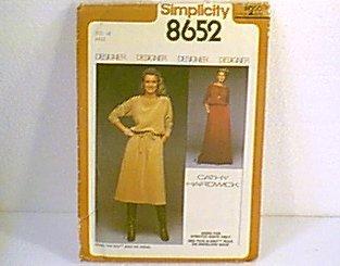 Misses Pullover 2 Pc Dress 2 Lengths Simplicity Sewing Pattern 8652 Sz 16 Miss Uncut