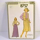Misses Blouse Top Skirt Vest 2 Lengths Simplicity Sewing Pattern 8757 Sz 10 Miss Uncut