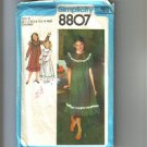 Girls & Chubbies Dress 2 Lengths Simplicity Sewing Pattern 8807 Sz 8½ - 14½ Chub Uncut