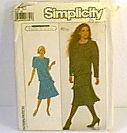 Misses Dress Jane Schaffhausen Belle France Simplicity Sewing Pattern 8861 Sz 10 Uncut