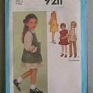 Childs Dress Sundress Jumper Pants Simplicity Sewing Pattern 9211 Sz 3 Child  Uncut