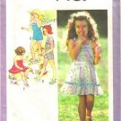 Child 2 Pc Dress 2 Pc Playsuit Simplicity Sewing Pattern 9407 Sz 4 Child Cut