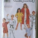 Childs Pajamas Nightshirt Robe 2 Lengths Simplicity Sewing Pattern 9942 Sz Sm Lg Cut