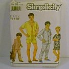 Easy to Sew Boys Teen Pajamas 2 Lengths Simplicity Sewing Pattern 9952 Sz 14 - 20 Uncut