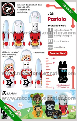 Pastaio mimobot® 1GB USB Flash Drive by tokidoki [SOLD OUT]