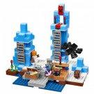 Building Block Bela Minecraft 10621 My World Ice Spikes Compatible Play Set Bricks Kit Toy