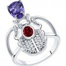 "Ring ""Scarab Beetle"" SOKOLOV 925 sterling silver Swarovski crystal jewelry gift"