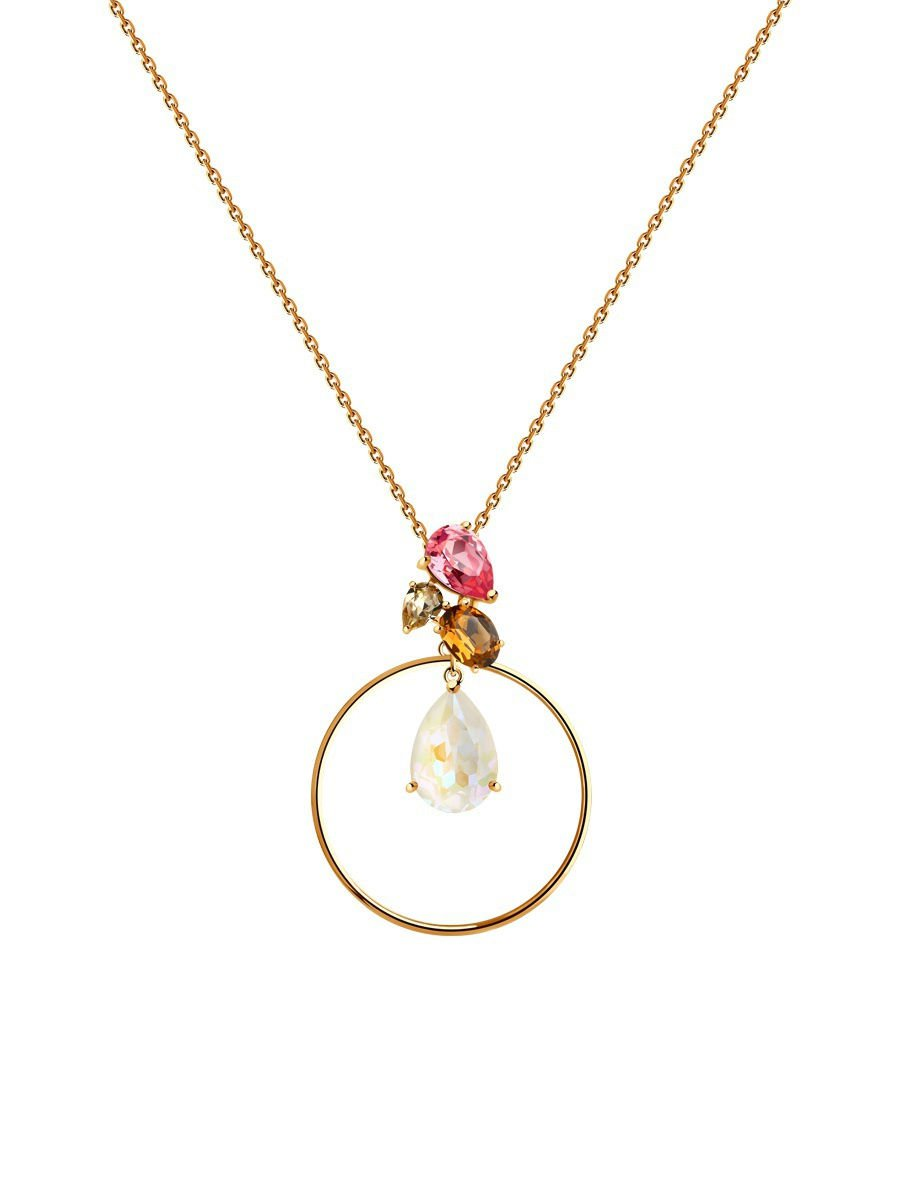 "Necklaces pendants ""Aurora"" SOKOLOV 925 sterling silver gilding Swarovski crystal jewelry gift"
