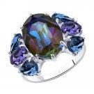 "Ring ""Purple Haze"" SOKOLOV 925 sterling silver Swarovski crystal jewelry gift"