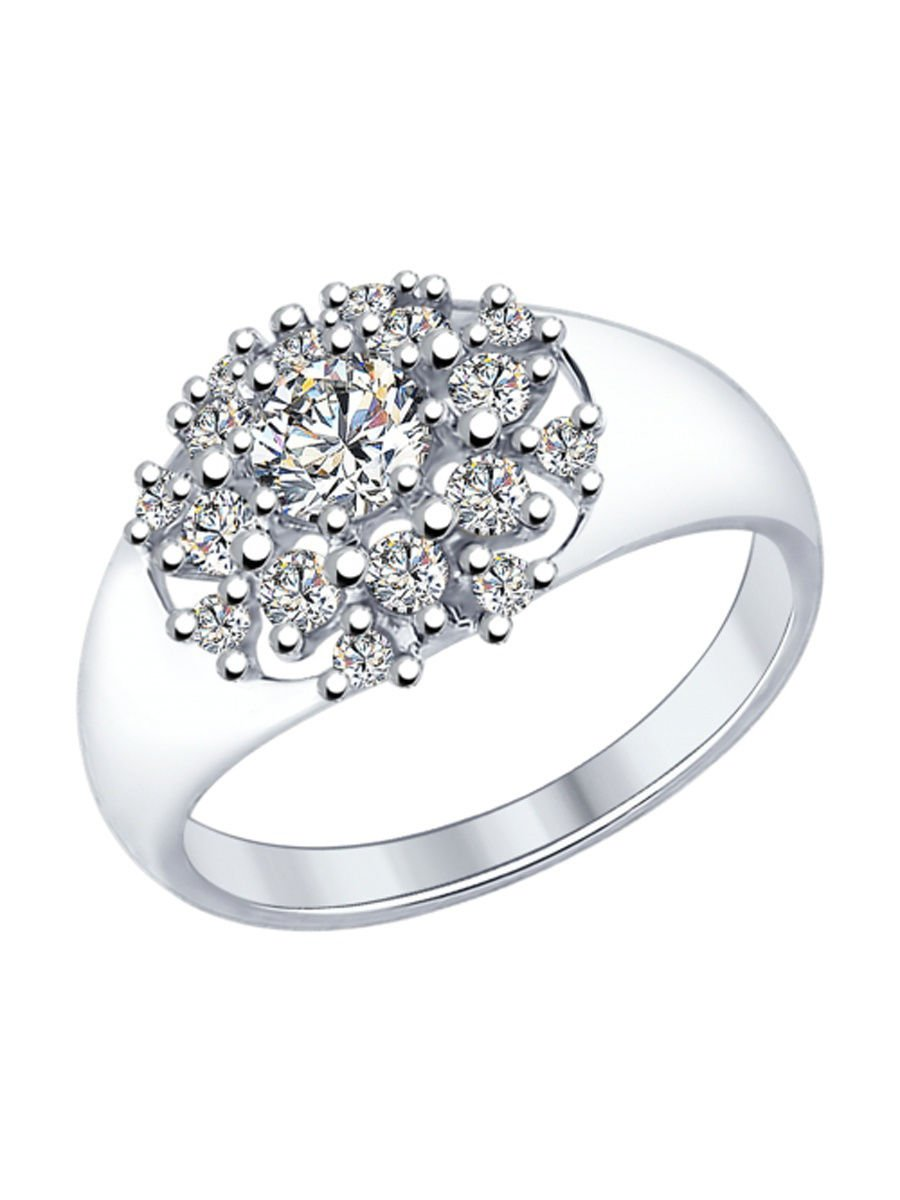 "Ring ""Dew Drop"" ry SOKOLOV 925 sterling silver Swarovski crystal jewelry gift"