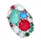 "Ring ""Flower Meadow"" ry SOKOLOV 925 sterling silver Swarovski crystal jewelry gift"
