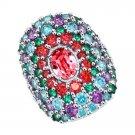 "Ring ""Summer Garden"" SOKOLOV 925 sterling silver Swarovski crystal jewelry gift"