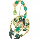 """Brooches """"Emerald Scorpio"""" SOKOLOV 585 red gold Agate Chrysolite crystal Zirconia jewelry gift"""