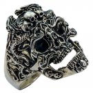 """Rings """"Brutal Skull"""" 925 silver jewelry gift"""